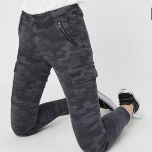 Mavi Juliette Camo Cargo Skinny Jeans Cropped Gray